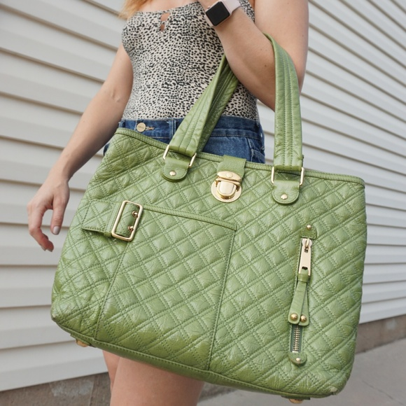Marc Jacobs Handbags - Authentic Marc Jacobs Quilted Green Patent Bag